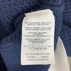 J. Crew Sweaters - J Crew Lambswool Shirttail Sweater Size Small